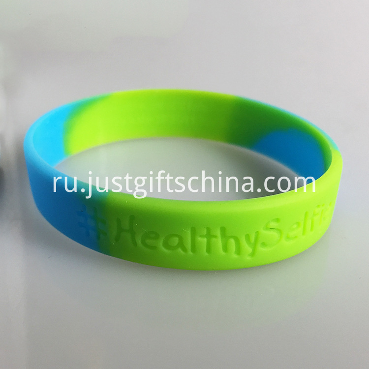 Segment Debossed Silicone Wristbands - 180mmx12mmx2mm (2)