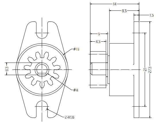 Gear Damper For Coffee Maker
