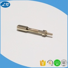 CNC turning electroplating brass charger plug metal parts
