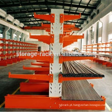 Cantilever Storage Metal Rack / Steel Warehouse Racking / prateleira de aço industrial
