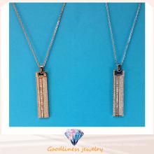 Joyería de moda de la joyería de la joyería de la venta entera del diseño simple collar pendiente de la joyería de la plata del collar N6776