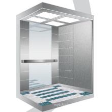 Aksen Mirror Etched Machine Room Less Passenger Lift J0342