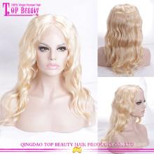 100% virgin Brazilian human hair #613 color permanent wigs