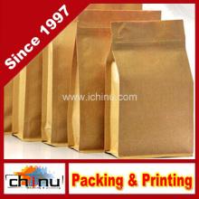 Saco de papel branco personalizado do açúcar do café da farinha de Kraft com impressão do cliente (220110)