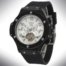 Mens Automatic Silicone Tourbillon Wrist Watch