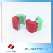 Kundenspezifische Spritzlackierung Starke AlNiCo-Magnete in U-Form für heißen Verkauf