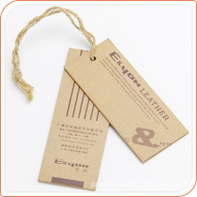 Customized Brown Kraft Hang Tag Printing Apparel Hang Tags wholesale