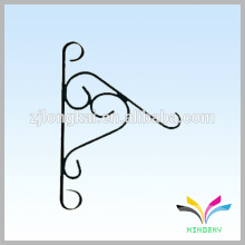 Decorative wrought iron hooks wall hanging flower basket hooks
