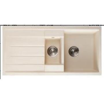 Louças sanitárias pia da cozinha dupla granito quadrado praça (hb8201)