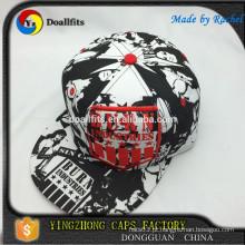 Promoção por atacado personalizam chapéus lisos do snapback com logotipo da impressão digital que encaixam chapéus