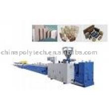 Ligne de machine d'extrusion de profil de WPC / machine en plastique composée en plastique en bois