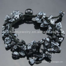2015 Latest Style Snowflake Stone Stretch Bracelets SB-0258