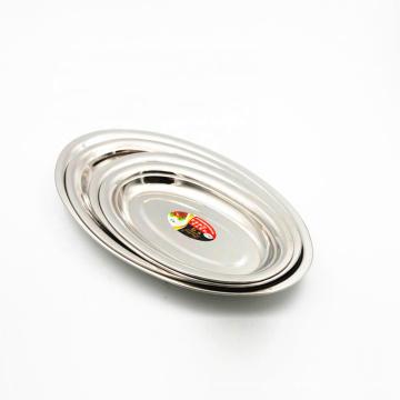 Bandeja oval china del plato de la comida de la placa de la porción de los mariscos del acero inoxidable