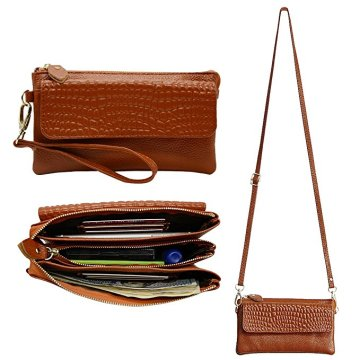 Ladies Leather Shoulder Cross Body Purses för kvinnor