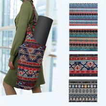 Yoga Bag Canvas Ethnic Sports Goods Storage Bag Yoga Mat Bag