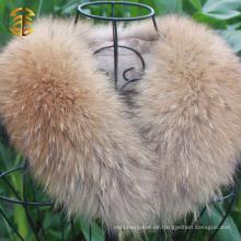 Großhandelspreis Waschbär Pelzkragen für Kleidungs-Winter-Mantel