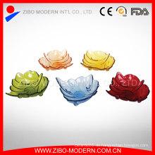 Spezielle Form Glasplatte für Hochzeit, Party, dekorative Dinner Plate