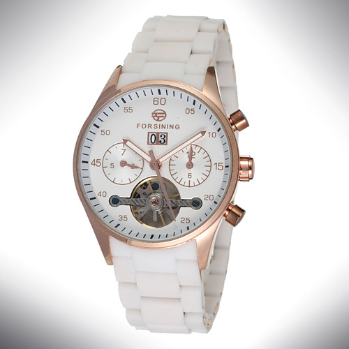 Stainless steel Strap auto mechanical watch