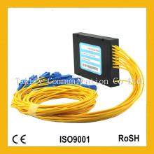 Concorrente 1X16 Single-Mode ABS Box Fibra Óptica PLC Splitter