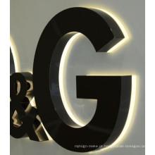 Logotipo de companhia de carta de canal LED de brilho ao ar livre impermeável