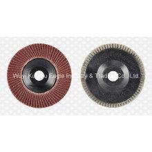 Disco de aleta profesional alúmina para metal y acero inoxidable (cubierta de plástico)