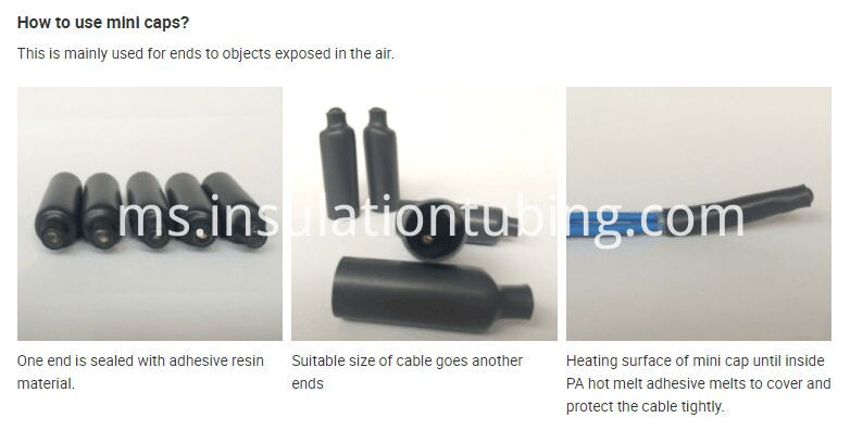 Heat Shrink Sealing Cap for application