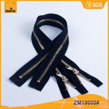 5 # Fábricas Buen Precio Chaqueta de cuero Metal Zipper ZM10008