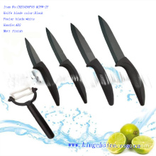 ceramic knife set black blade and peeler