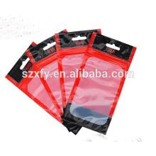 Impresso claro saco de plástico janela para telefone celular / saco para telefone celular caso de embalagem