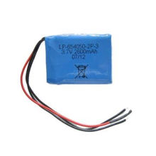 Lithium polymer battery pack, 3.7V 2600mAh with protect circuit lead out 2 wires for P+ & P-