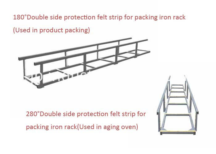 double side protection nomex felt strip for packing iron rack