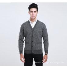 Yak Wool / Cachemire V Neck Cardigan à manches longues Pull / Vêtements / Vêtement / Tricots