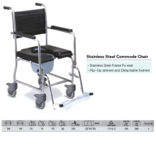 Stainless Steel Frame Commode Chair