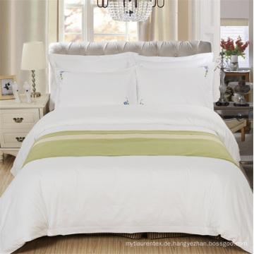 Hotel White CVC 80 Baumwolle 20 Polyester Satin Bettwäsche-Set