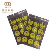 """Sacs en plastique d'expédition faits sur commande heureux de concepteur de visage de Smiley / 10X13 """"poly emballage de sac de courrier postal"""