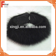 Schwarzes Waschbärpelz-Stirnband
