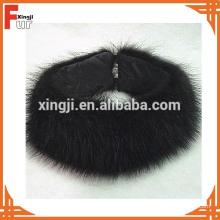 Diadema de piel de mapache negra