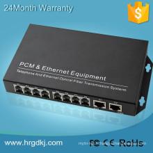 Multiplexeur optique audio vidéo numérique 2/4/8/16/24/32 port fxo fxs voip passerelle téléphone optique émetteur