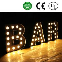 Высокое качество постоянный 3D Ironlighting буквы