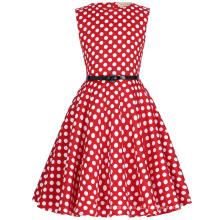 Kate Kasin Children Girls Sleeveless Round Neck Vintage Retro Cotton Small Dot Kids Dress KK000250-11