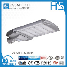 Luz de rua de LED barato 240W com chips Philips Lumiled