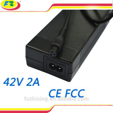 42v 2a battery charger for self balancing scooter 2 wheels hoverboard electric skateboard