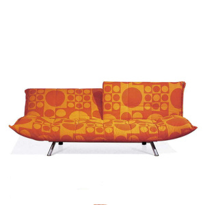Multi-Function Recline Folding Fabric Loveseat Bäddsoffa