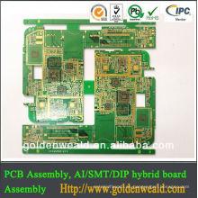 Tablero electrónico del PWB de la lavadora de 4 PC de la inmersión del oro de la capa