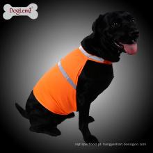 Colete de resfriamento de cachorro respirável Colete de segurança de cachorro de estimação de néon reflexivo
