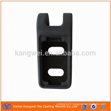 black anodized aluminum part