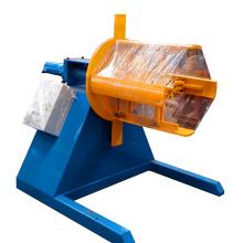 Decoiler de bobina de alumínio e recoiler / linha de produção de desbobinador pesado / desbobinador hidráulico para corte
