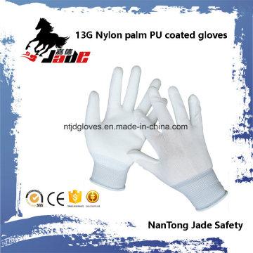 13G Poliéster Palm PU Coated Cheap Glove En 388 4131