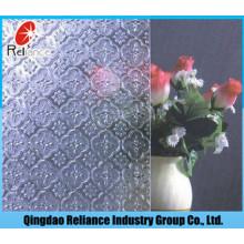 Klar Flora Muster Glas / Figur Glas / 3mm / 3,5mm / 4mm / 4,5mm / 5mm / 5,5mm / 6mm