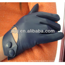 Blue genuine leather glove for women in 2014